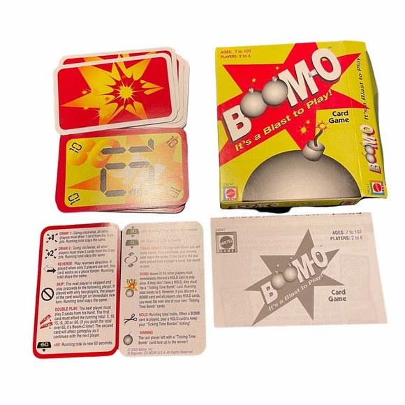 """VINTAGE """"BOOM-O"""" BOOMO CARD GAME FROM MATTEL - YEAR 2000 EDITION"""